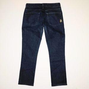 Rich & skinny sleek dark cropped jeans womens 27